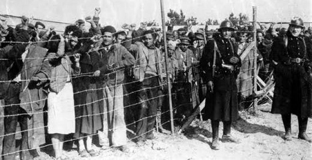 Campo de prisioneros republicanos en Francia