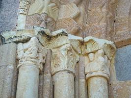 Detalle portada de la Vera Cruz, Segovia